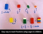 Easy Way To Teach Fractions Using Legos To Kids