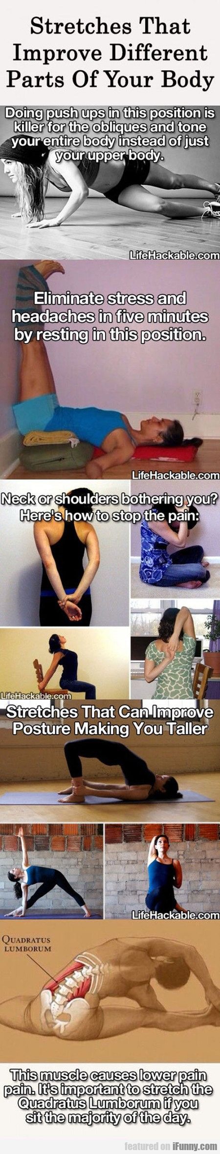 Stretches That Improve Different Parts Of Your Bod