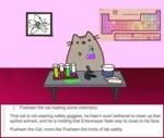 Pusheen The Cat Making Some Chemistry.