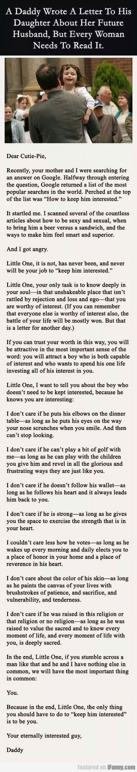 A Daddy Wrote A Letter To His Daughter About...