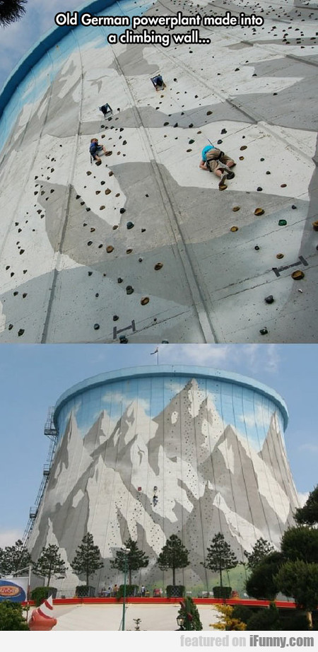 Old German Powerplant Made Into A Climbing Wall