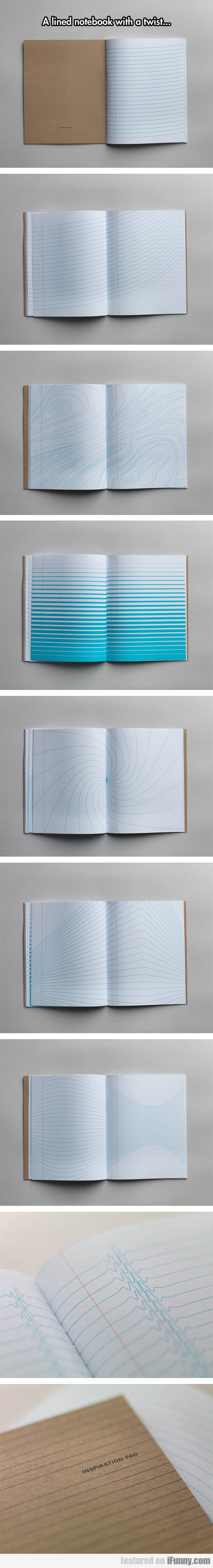 A Lined Notebook With A Twist