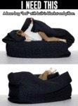 I Need This Bean Bag Bed