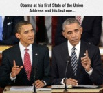 Obama At His First State Of The Union Address