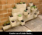 Creative Use Of Cinder Blocks...