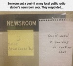 Someone Put A Post-it On My Local Public Radio