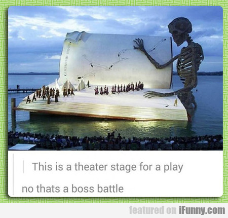 This is a theater stage for a play