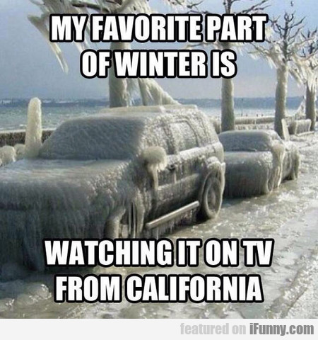 My Favorite Part Of Winter Is...