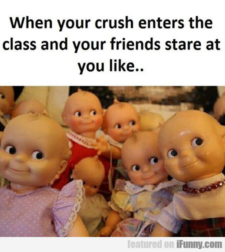 When Your Crush Enters The Class