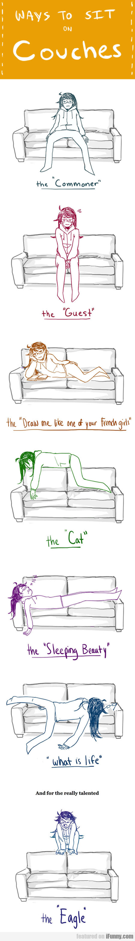 Ways To Sit On Couches