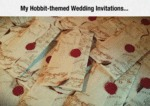 My Hobbit-themed Wedding Invitations...