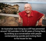 An Australian Man Living By A Cliff