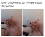 When Ur Ugly N Sad But Trying Ur Best To