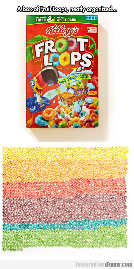 Fruit Loops Organized By Colors