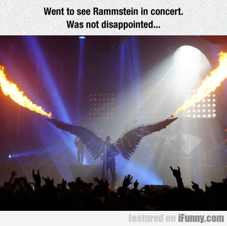Went To See Rammstein In Concert..