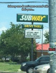 Subway Drive Thru
