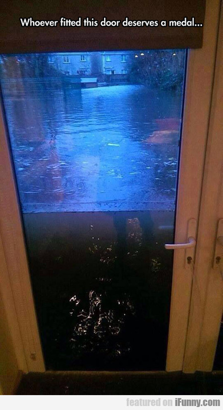 Whoever Fitted This Door Deserves A Medal..