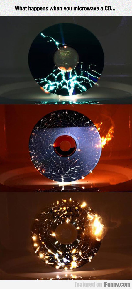 What Happens When You Microwave A Cd...