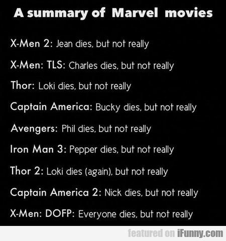 A Summary Of Marvel Movies