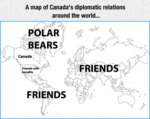 A Map Of Canada's Diplomatic Relations
