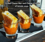 Grilled Cheese Mac And Cheese In Shots