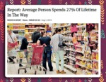 Average Person Spends 27% Of Lifetime In The Way