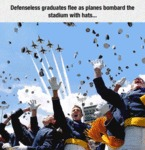 Defenseless Graduates Flee As Planes Bombard The..