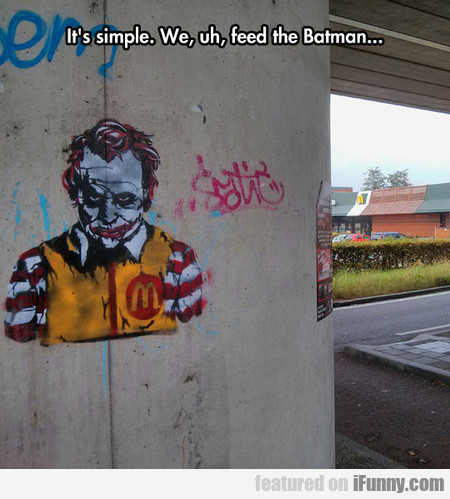 Joker Graffiti On Mcdonald's Wall