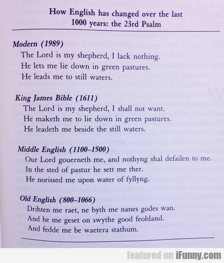 How English Has Changed Over Time