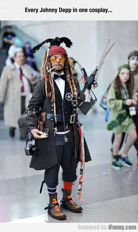 Every Johnny Depp In One Cosplay...