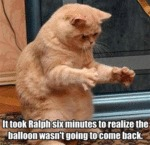 It Took Ralph Six Minutes To Realize The Balloon..