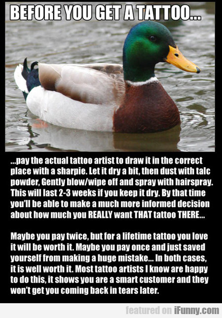 Before You Get A Tattoo You Should Do This