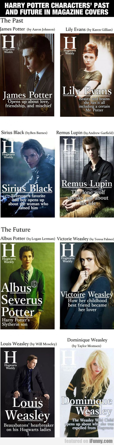 Harry Potter Characters' Past And Future
