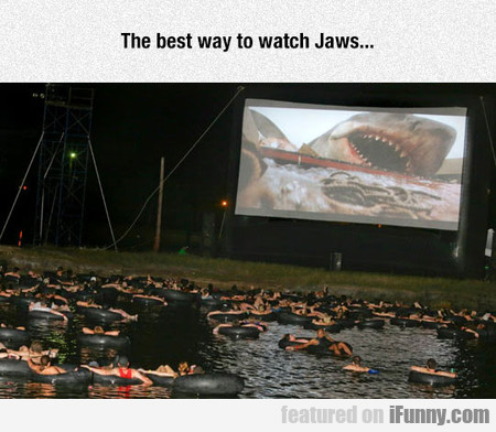 The Best Way To Watch Jaws...