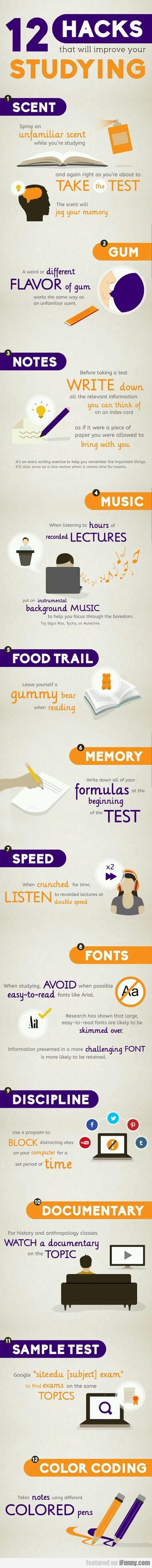 12 Hacks To Improve Your Studying
