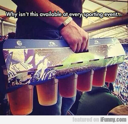 Why Isn't This Available At Every Sporting Event?
