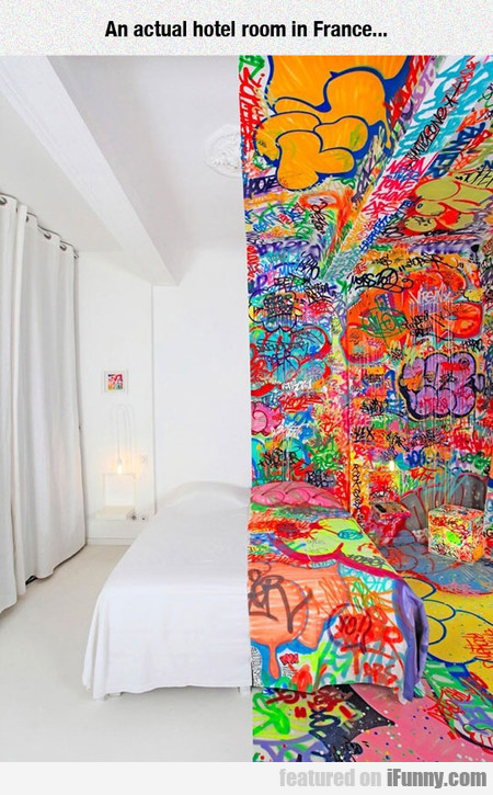 An actual hotel room in France...