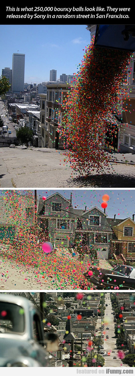 This Is What 250,000 Bouncy Balls Look Like