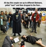 All Day This Couple Ran Up To Different Batmans