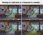 Working At A Retail Store Or A Restaurant