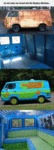 An Old Rusty Van Turned Into The Mystery Machine..