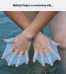 Webbed Fingers As Swimming Aids...
