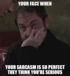 Your Face When Your Sarcasm Is So Perfect
