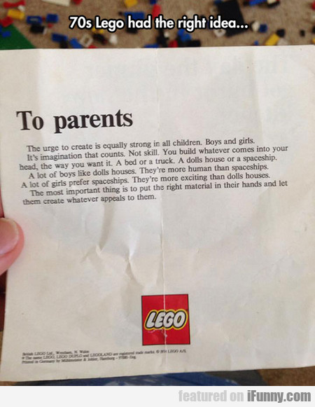 Lego To Parents