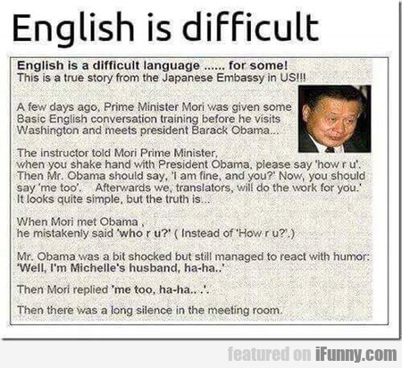 English is difficult