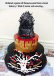 Ordered A Game Of Thrones Cake From A Local Shop