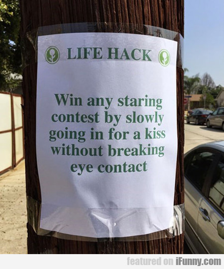 Simple Trick For Winning Any Staring Contest