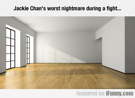Jackie Chan's Worst Nightmare During A Fight...