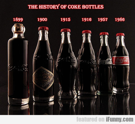 Coca-cola Bottles Throughout History
