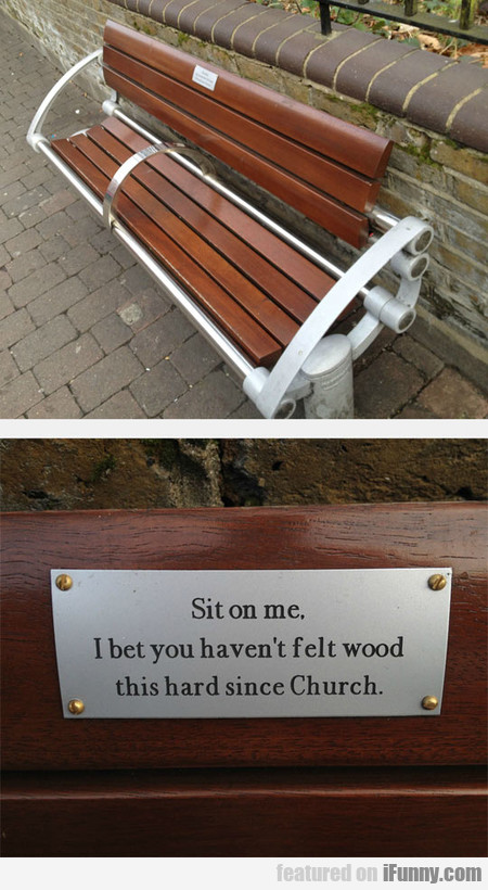 Park Bench In East London